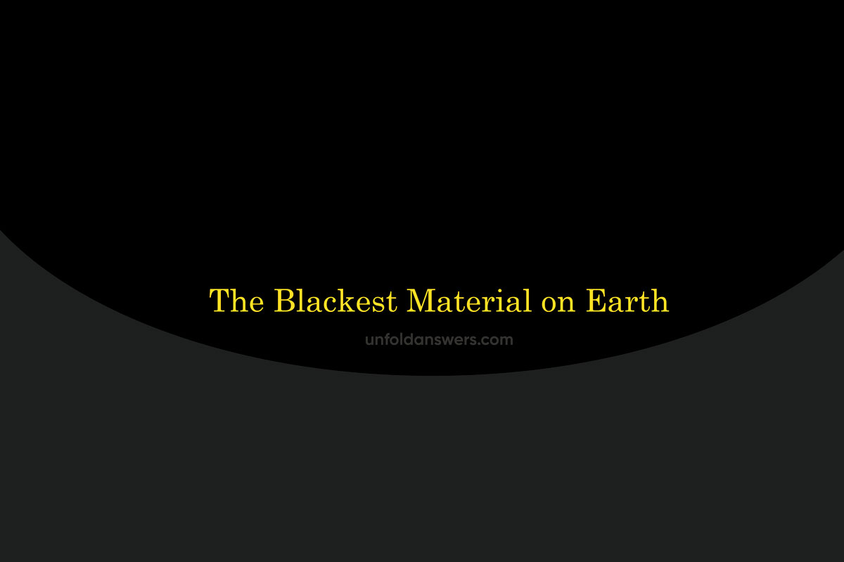 blackest material on earth