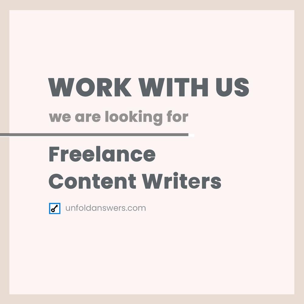 Content Writers Needed